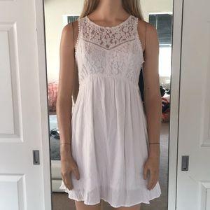 Simply Gorgeous A&F White Gauze & Lace Dress